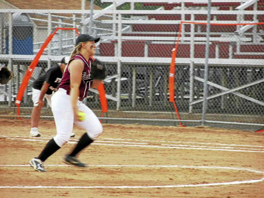 Torrington's Ali Dubois made her final appearance for the Red Raiders in a loss to top-seeded Fitch in the Class L semifinals Tuesday at DeLuca Field in Stratford. Photo: Photo By Peter Wallace