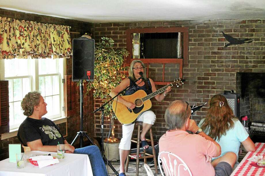 Cindy Rines play at the Riverton Inn as part of the Riverton Music Festival on Saturday. Photo: Photo By John Nestor