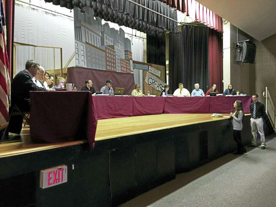 Parents and educators discuss the Torrington special education with the Board of Education Budget Committee Monday. Photo: BEN LAMBERT — REGISTER CITIZEN