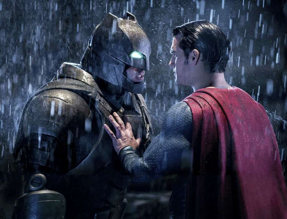 """This image released by Warner Bros. Pictures shows Ben Affleck, left, and Henry Cavill in a scene from, """"Batman v Superman: Dawn of Justice."""" Photo: Clay Enos/Warner Bros. Pictures Via AP  / Warner Bros. Entertainment"""