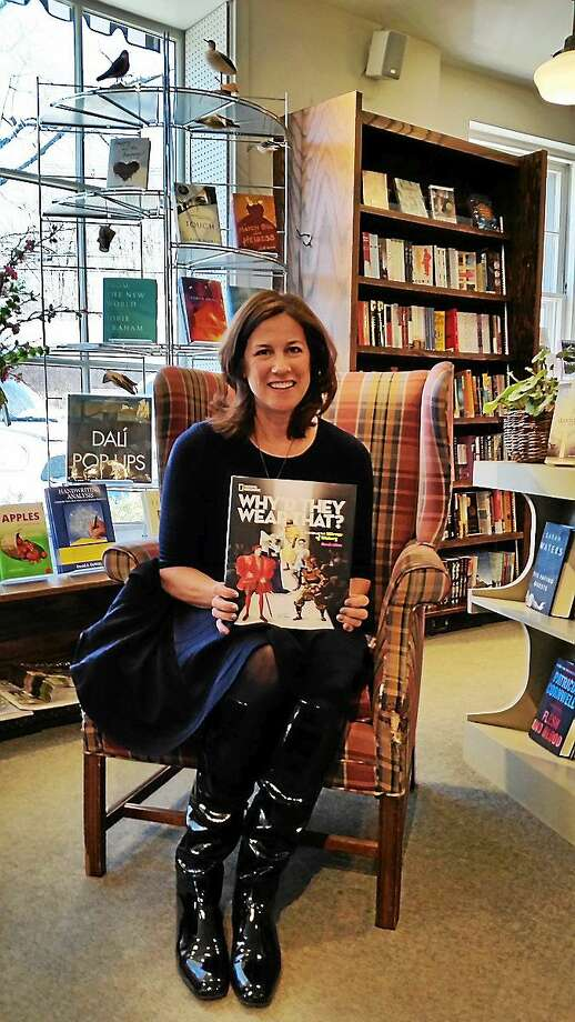 Watertown author Sarah Albee stopped at The Hickory Stick Bookshop in Washington Depot on Sunday to promote her new book. Photo: N.F. Ambery — Special To The Register Citizen