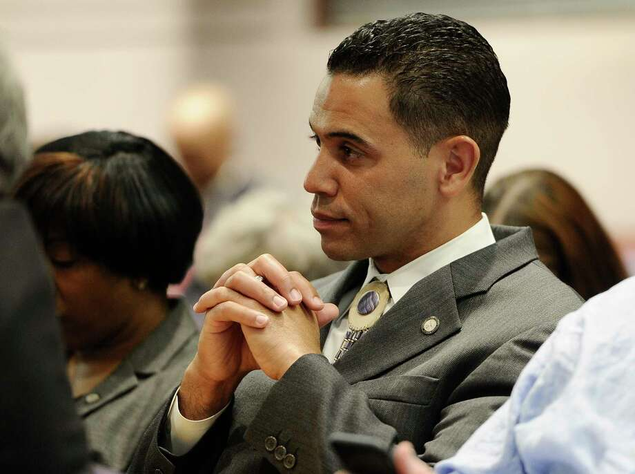 Rodney Butler, chairman of the Mashantucket Pequot Tribal Nation, listens during a hearing at the Legislative Office Building on March 17, 2015, in Hartford, Conn. Photo: AP Photo/Jessica Hill  / FR125654 AP