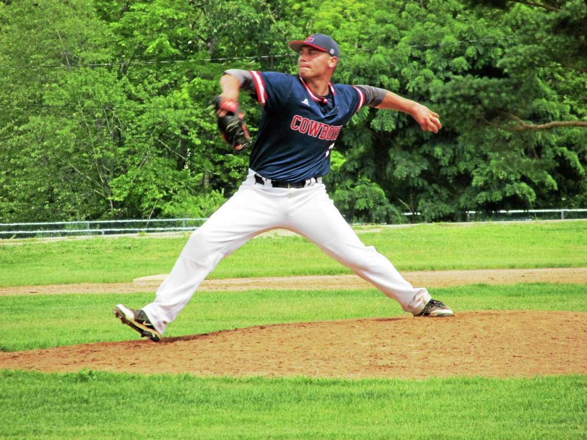 Peter Wallace - Register Citizen photo Litchfield's Chris Blazek no-hit the Torrington Rebels, in his second start of the summer, Saturday afternoon at Litchfield High School.