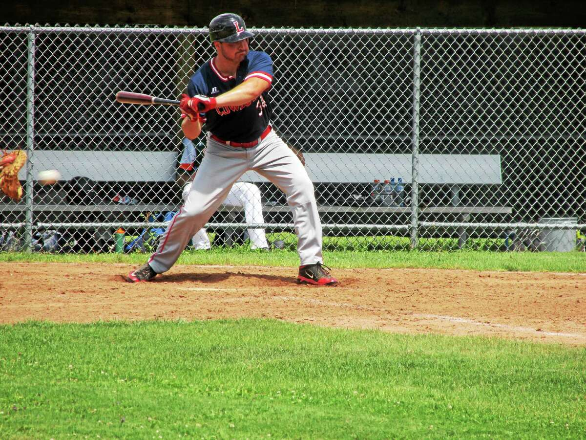 Peter Wallace - Register Citizen photo Ed Pequignot started the Cowboy scoring with a lead-off triple in the second inning against Torrington.