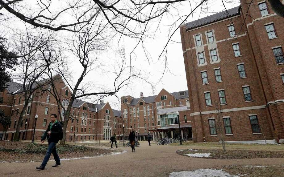 Students walk through the Warren College and Moore College area at Vanderbilt University on Tuesday, Feb. 24, 2015, in Nashville, Tenn. Photo: AP Photo/Mark Humphrey  / AP