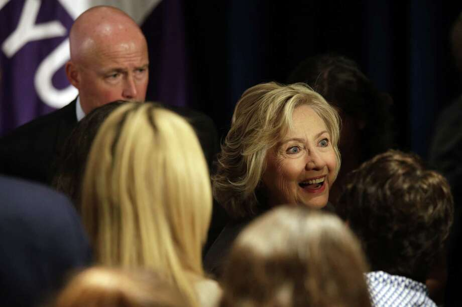 Democratic presidential hopeful Hillary Rodham Clinton greets supporters after delivering a speech, Friday, July 24, 2015, at the New York University Leonard N. Stern School of Business in New York. Photo: AP Photo/Mary Altaffer / AP