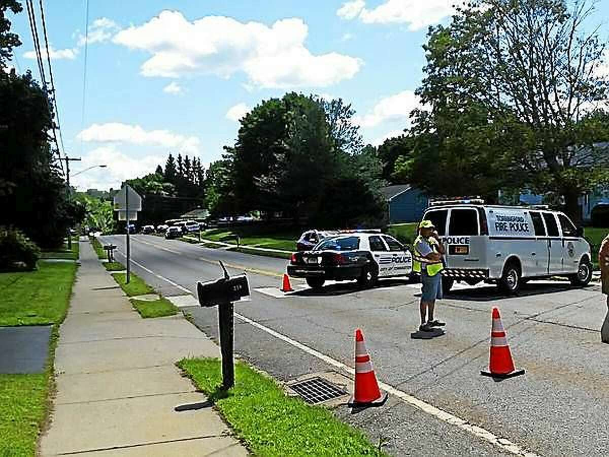 Torringford Street in Torrington was blocked off Friday afternoon as police tried to resolve a standoff situation in a local home.