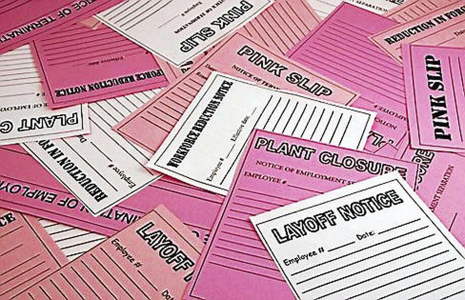 Pink slips Photo: SHUTTERSTOCK