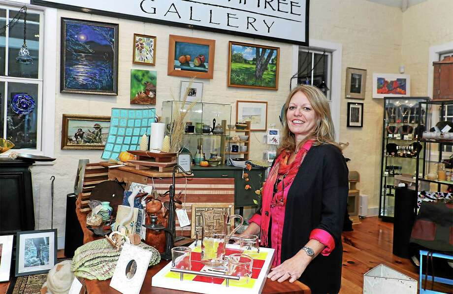 Lyn Bouteneff recently moved The Bodhi Tree Gallery from Sharon to 14 Cobble Court in Litchfield. Photo: John Fitts — The Register Citizen