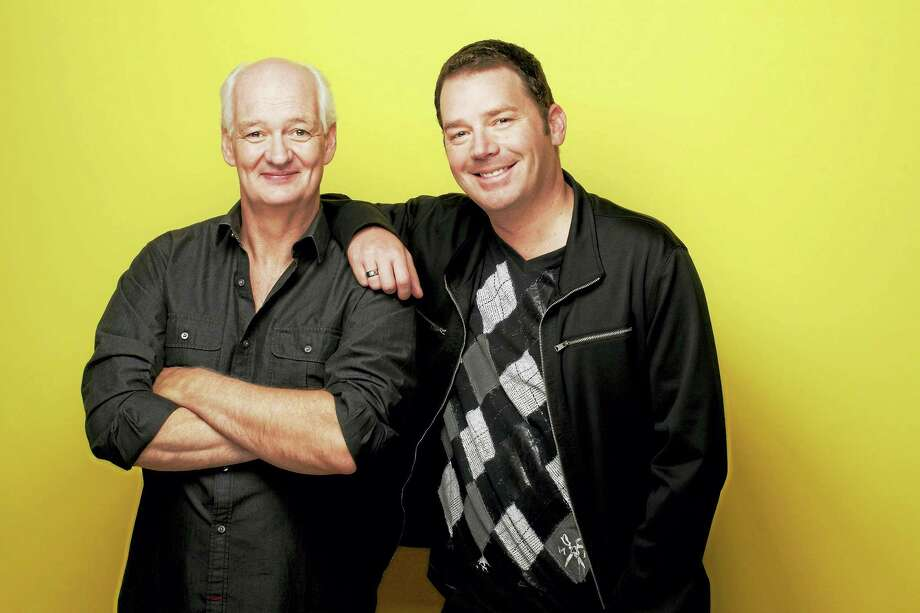 """Contributed photo Armed with nothing but their sharp wit, """"Whose Line Is It Anyway"""" stars and comedians Colin Mochrie and Brad Sherwood take to the stage at the Warner Theatre to create hilarious and original scenes in their two-man show on Friday, Oct. 14 at 8 p.m. Photo: Digital First Media"""
