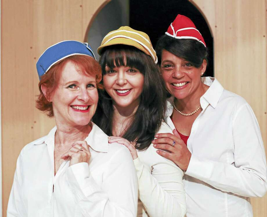 Photo by Heather Boscarino From left, Chrissy Flynn, Tracey Brown and Patricia Paganucci are the three fiancess in the Goshen Players' new show, Boeing, Boeing. Photo: Digital First Media