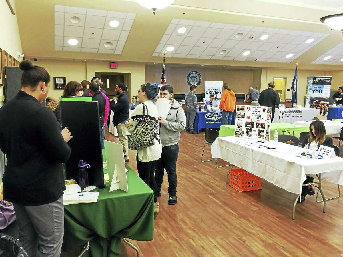 Job seekers took part in the annual job fair organized by the Northwest Connecticut Chamber of Commerce this week.