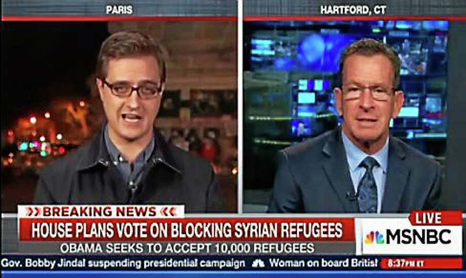 Gov. Dannel Malloy, right Photo: Screengrab From MSNBC