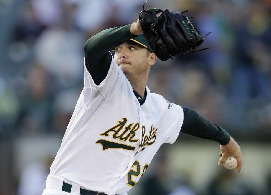 The Oakland Athletics traded Scott Kazmir to his hometown Houston Astros for a pair of minor leaguers on Thursday. Photo: Ben Margot — The Associated Press File Photo  / AP