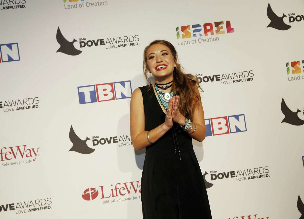 Lauren Daigle at the 47th Annual GMA Dove Awards at Lipscomb University's Allen Arena on Oct. 11, 2016 in Nashville, Tenn.