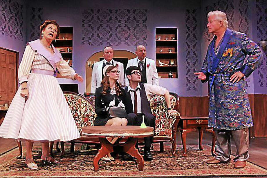 """Contributed photoThe cast of """"Living on Love"""" in a scene from the show at Seven Angels Theatre in Waterbury. Photo: Journal Register Co."""