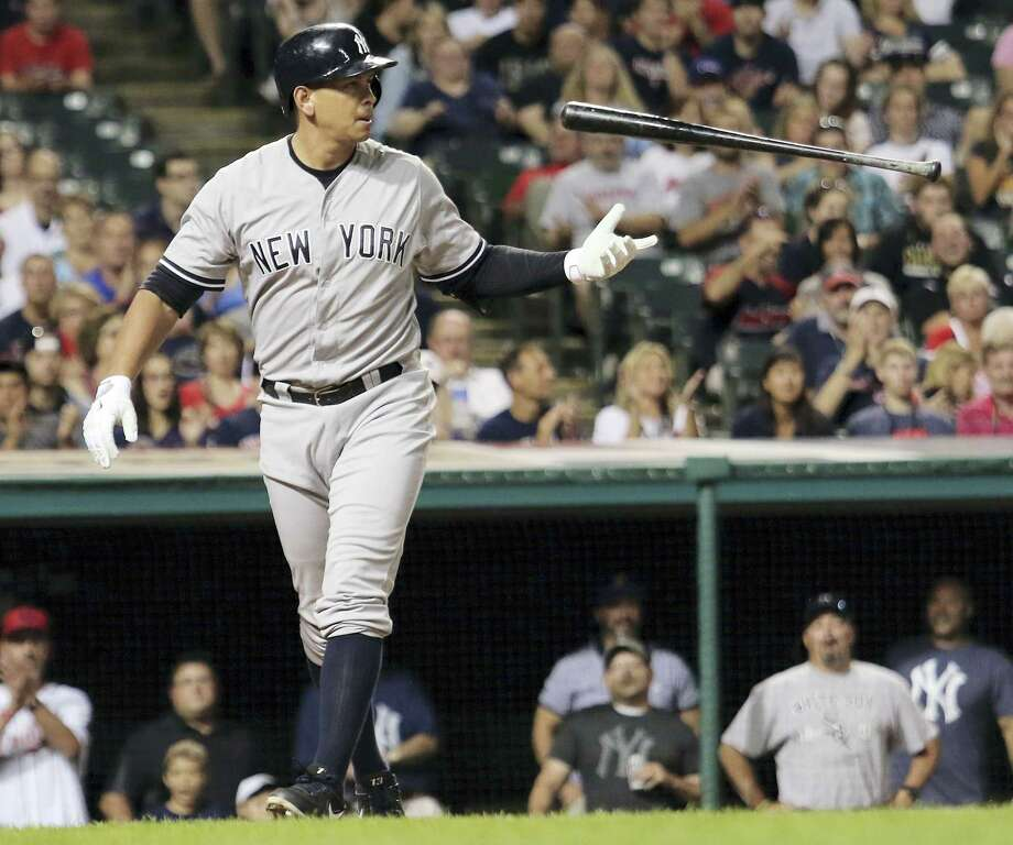 In this Aug. 13, 2015, file photo, Alex Rodriguez flips his bat after striking out in the eighth inning against the Cleveland Indians. Rodriguez says he plans to retire from baseball after the 2017 season. The Yankees slugger revealed his intentions during an interview with ESPN. Photo: File Photo — The Associated Press  / FR171101 AP