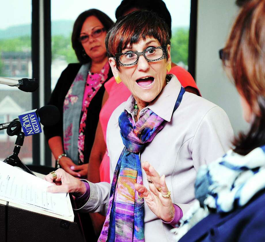 U.S. Rep. Rosa DeLauro talks about the proposed Paycheck Fairness Act at the offices of the Community Foundation of Greater New Haven in New Haven in this 2013 file photo. Photo: New Haven Register File Photo