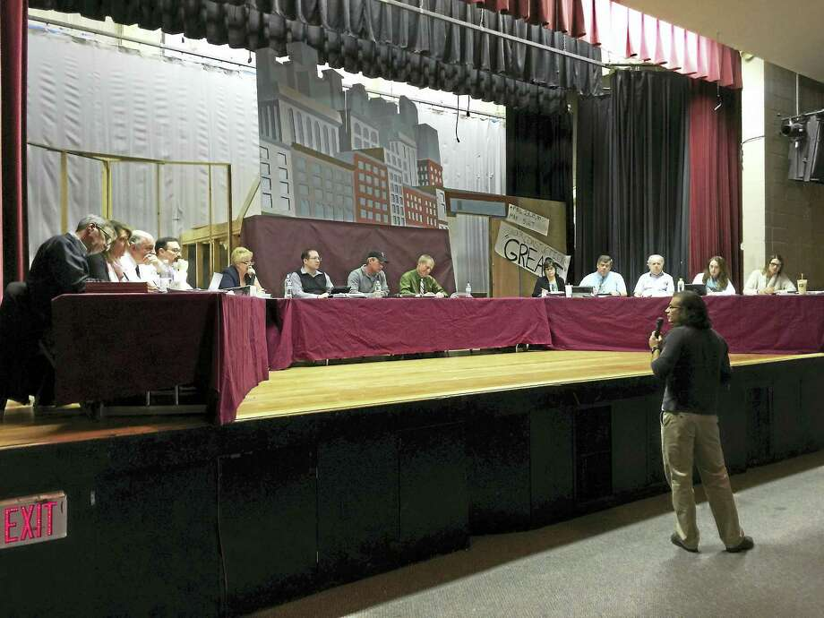 Residents came forward to share their thoughts on the current budget proposal for the Torrington school district Thursday, as the Board of Education continues efforts to create a plan for the next year in the district. Photo: BEN LAMBERT — The Register Citizen