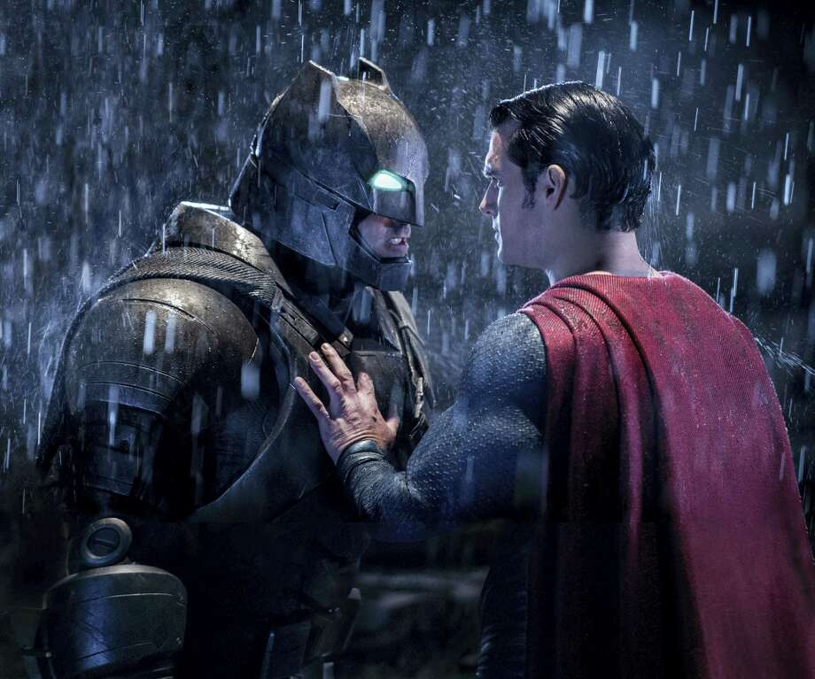 "This image released by Warner Bros. Entertainment shows Ben Affleck as Batman, left, and Henry Cavill as Superman in a scene from, ""Batman V. Superman: Dawn Of Justice."" Photo: Clay Enos/Warner Bros. Entertainment Via AP  / Warner Bros. Entertainment"