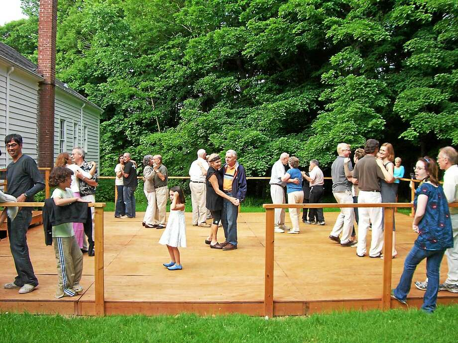 Contributed photo Guests dance to the live music at the Stoeckel Estate's Music Shed in Norfolk during the annual music festival. Photo: Journal Register Co.