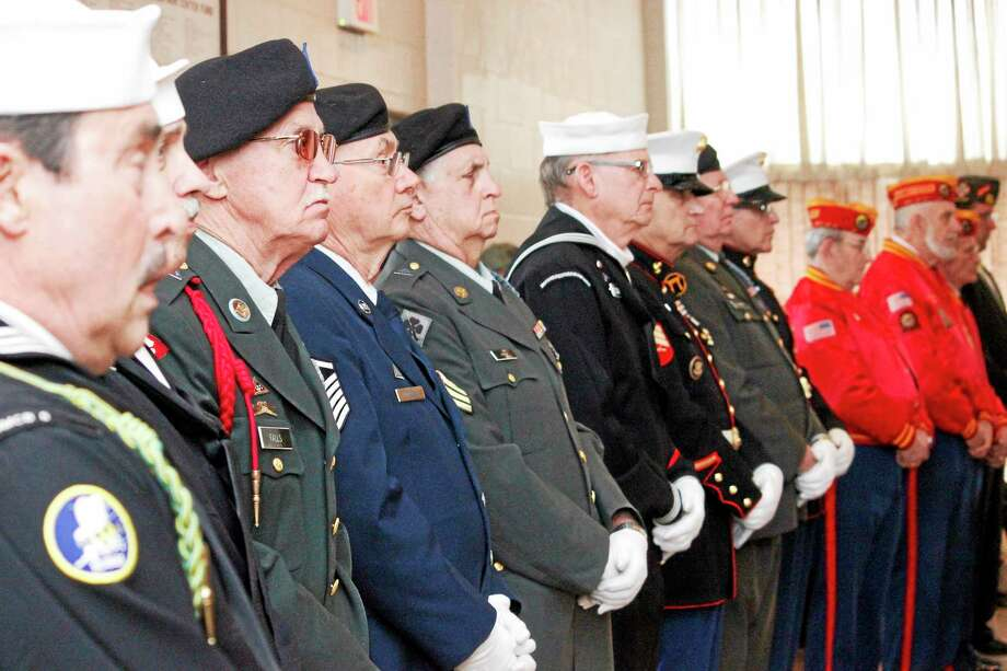 Veterans attended the ceremony to welcome home Vietnam Veterans. Photo: Register Citizen File Photo