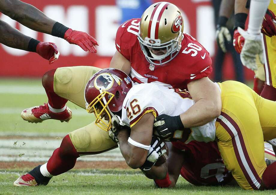 The San Francisco 49ers announced late Monday that inside linebacker Chris Borland is retiring after one season. Photo: Tony Avelar — The Associated Press File Photo  / FR155217 AP