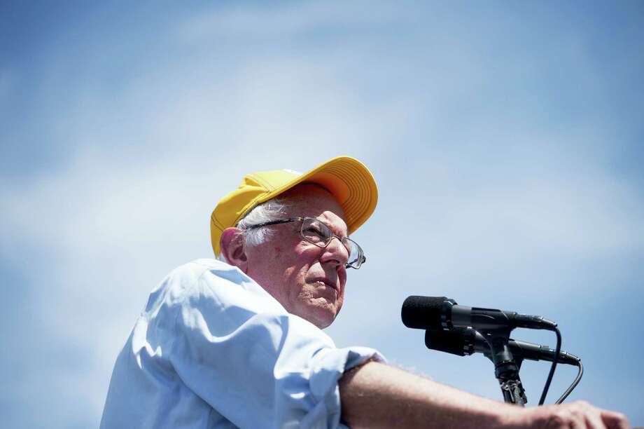 Democratic presidential candidate Sen. Bernie Sanders, I-Vt., speaks during a campaign rally at the Cubberley Community Center Wednesday in Palo Alto, California. Photo: THE ASSOCIATED PRESS  / FR34727 AP
