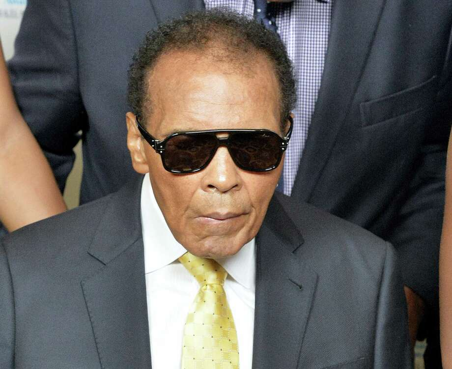 A spokesman for boxing great Muhammad Ali says the former heavyweight champion is being treated in a hospital for a respiratory issue. Photo: The Associated Press File Photo  / FR43398 AP