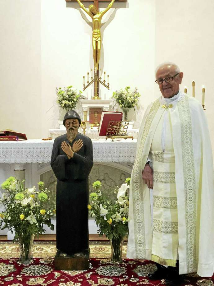 Contributed photosAfter almost 5 decades since he was pastor, Chorbishop Joseph Lahoud has returned to Torrington to serve the Maronite Catholic parish. Photo: Journal Register Co.