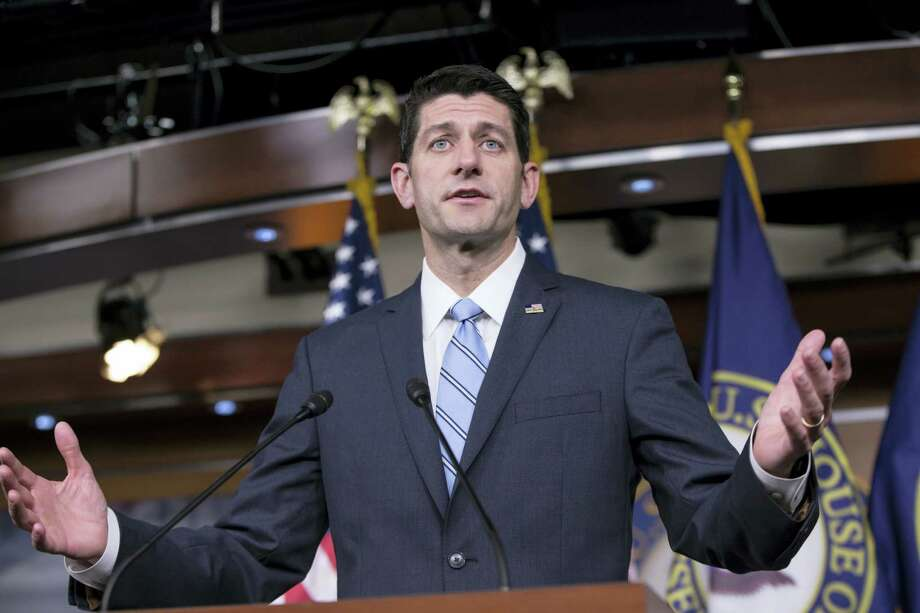 Speaker of the House Paul Ryan, R-Wis., meets with reporters at the Capitol in Washington, Thursday, May 26, 2016. Ryan endorsed Donald Trump on Thursday. Photo: AP Photo — J. Scott Applewhite / AP