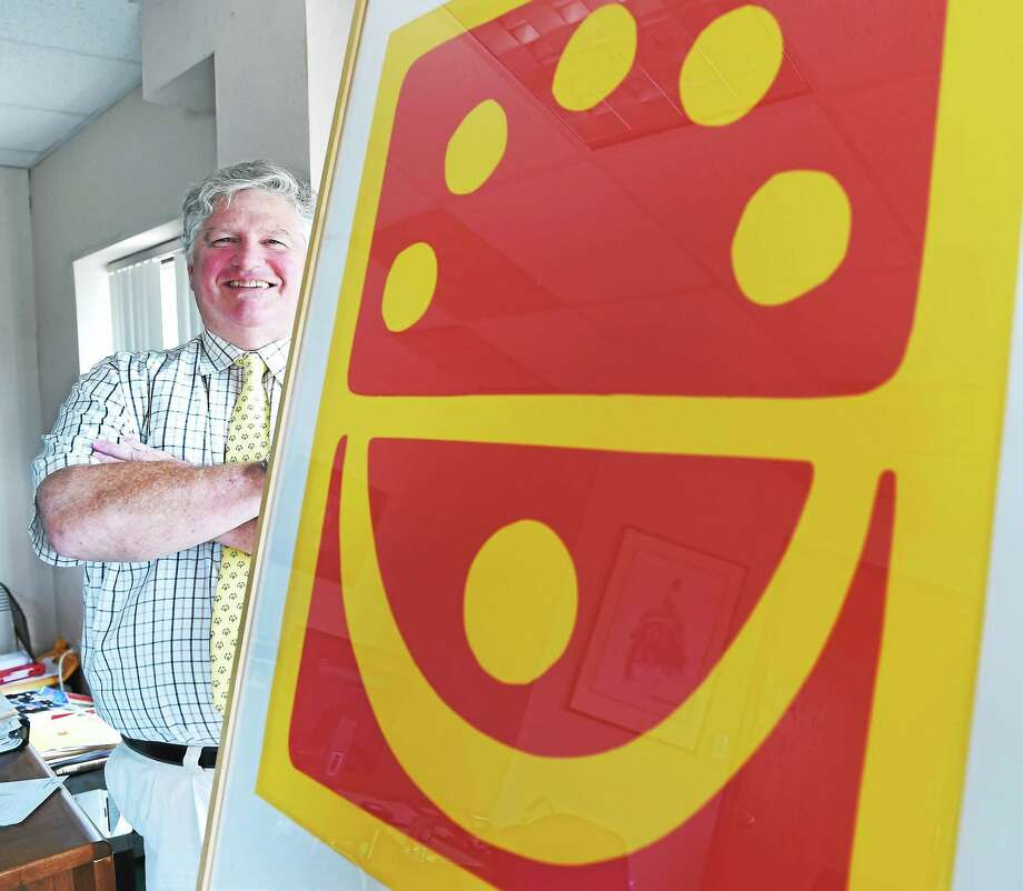 Connecticut Special Olympics president Beau Doherty in his office with a 1998 Special Olympics World Games artist athlete logo on Thursday. New Haven was the site of the 1995 Special Olympics Summer World Games. Photo: Peter Hvizdak — Register  / ©2015 Peter Hvizdak