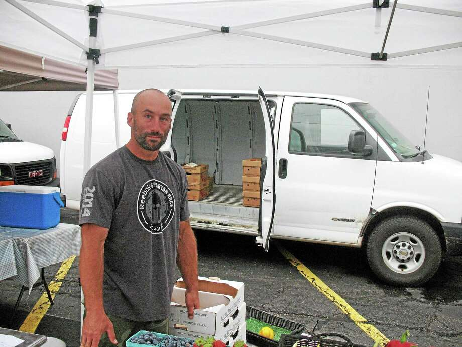 Ben March is promoting March Farm, a family business since 1915 Photo: Katelyn Peterson - Special To The Register Citizen