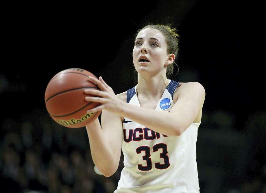 UConn freshman Katie Lou Samuelson scored 22 points in Saturday's NCAA tournament win over Robert Morris. Photo: Jessica Hill — The Associated Press  / AP2016