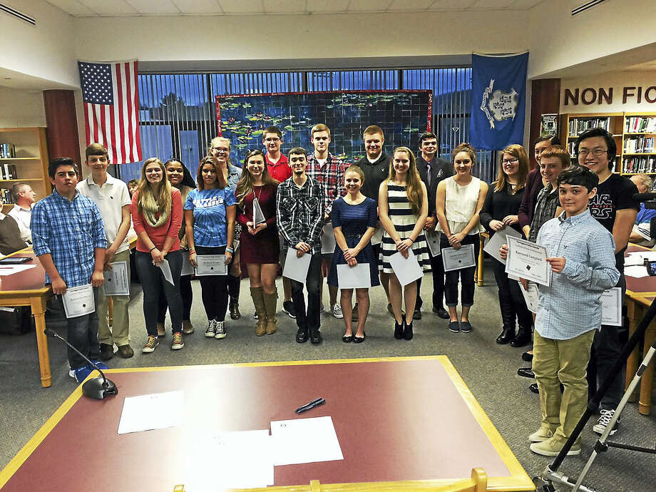 Torrington High School students were recognized for their achievements in the music program Wednesday evening. Photo: Journal Register Co.