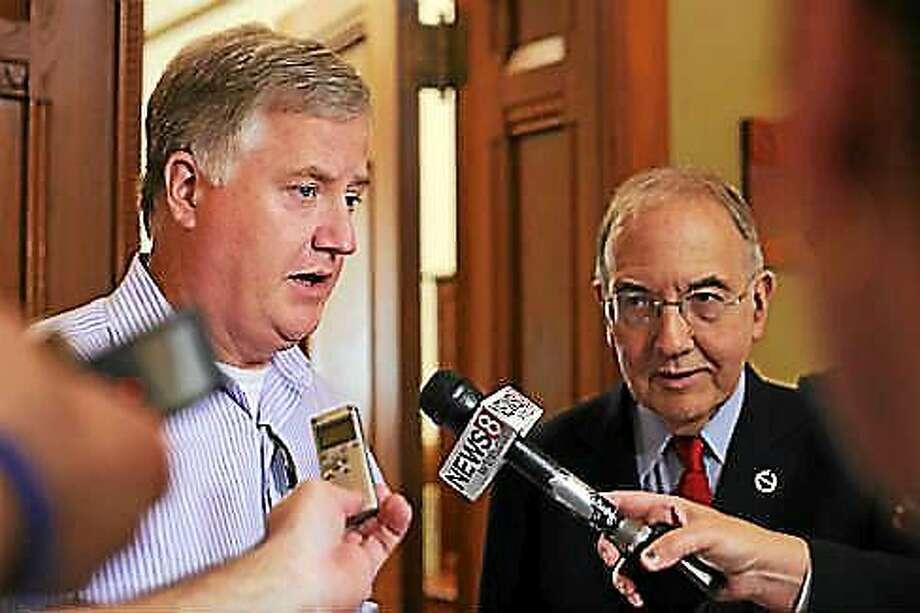 House Speaker Brendan Sharkey and Senate President Martin Looney Photo: Courtesy CTNJ