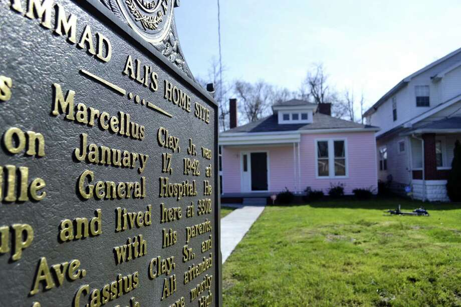 In this March 18, 2016, photo, the childhood home of Muhammad Ali is seen in Louisville, Ky. The home has been purchased and restored over the last nine months and is being transformed into a museum. Photo: AP Photo/Dylan Lovan   / Copyright 2016 The Associated Press. All rights reserved. This material may not be published, broadcast, rewritten or redistributed without permission.