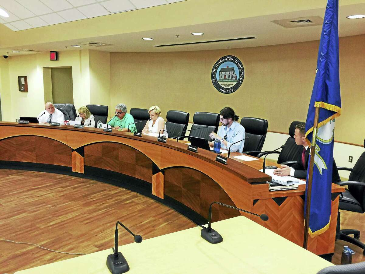 PHOTO BY BEN LAMBERT The Board of Finance met Wednesday to set the 2016-17 tax rate for the city of Torrington.