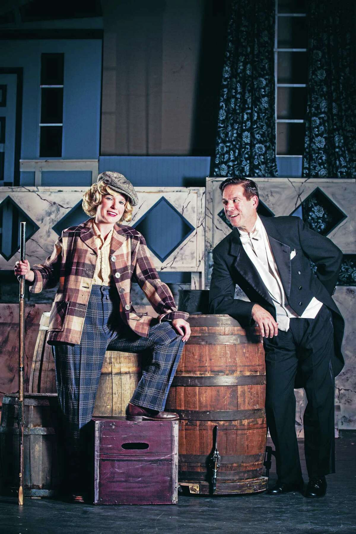 Photo by Luke Haughwout/Mandi MartiniMarcia Maslo as Billie Bendix and Rick Fountain as Jimmy Winter in a scene from the Warner Stage Company's production of