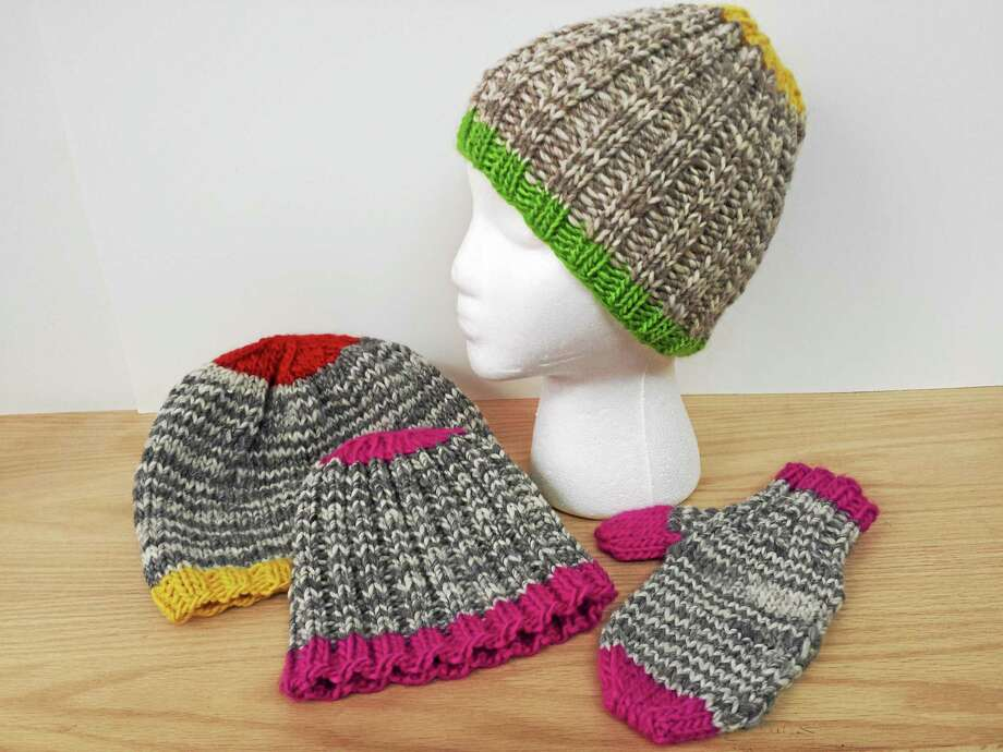 Photo by Ginger BalchNothing is more fun and satisfying to knit than a project that can be completed in one sitting. Photo: Journal Register Co.