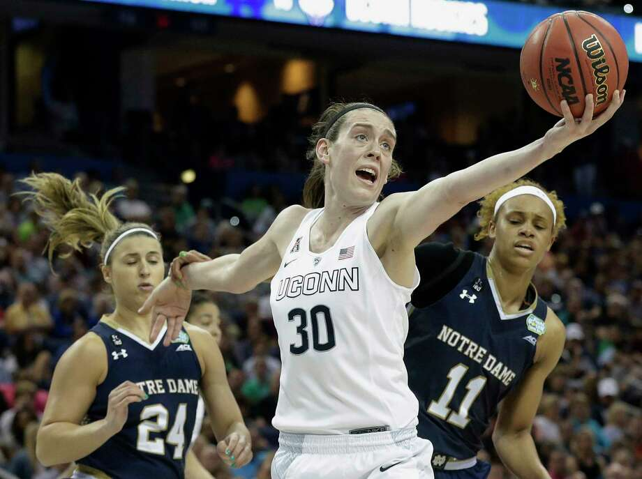 UConn's Breanna Stewart was selected to The Associated Press preseason All-America team for the third straight year on Tuesday. Photo: Brynn Anderson — The Associated Press File Photo  / AP