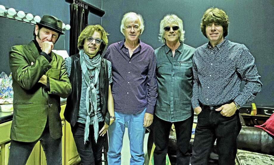 From left, Kenny Aaronson, Johnny A, Jim McCarty, Myke Scavone and John Idan of The Yardbirds. Photo: Photo Courtesy Of Arnie Goodman