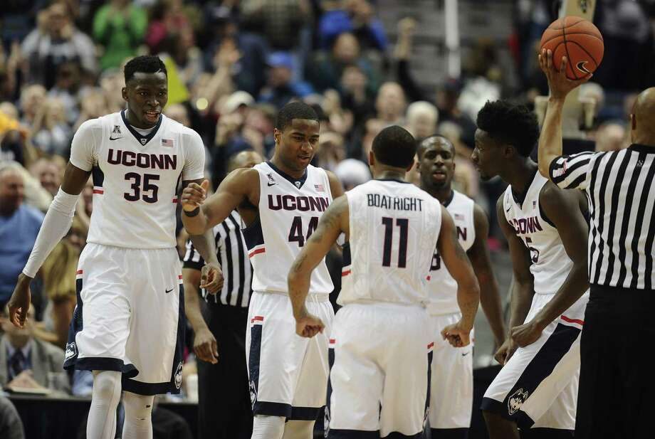 UConn needs four wins in four nights to get back to the NCAA tournament. Photo: Jessica Hill — The Associated Press  / FR125654 AP