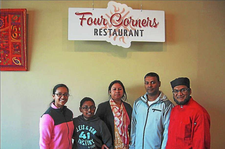The Four Corners family, from left: Chowdhury Majzabin, Tahniyad Chowdhury, Tahsina Hogue, Shahidul Chowdhury and Monjour Ahmed. Photo: Photo By John Torsiello