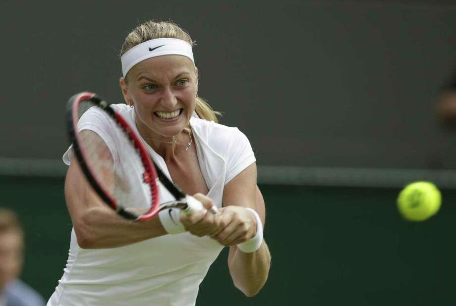 Defending champion Petra Kvitova will headline next month's Connecticut Open. Photo: Alastair Grant — The Associated Press  / AP