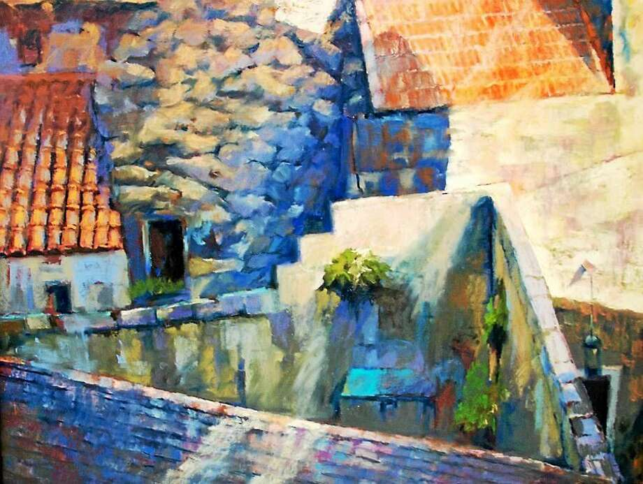 Contributed photo Montfrin Rooftops pastel 36inx40in by Frank Federico. Photo: Journal Register Co.