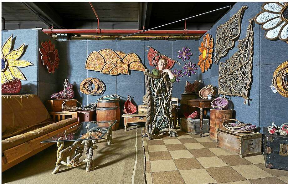 Contributed photo Tina Puckett's studio at Mad River Lofts Gallery in Winsted. Photo: Journal Register Co.