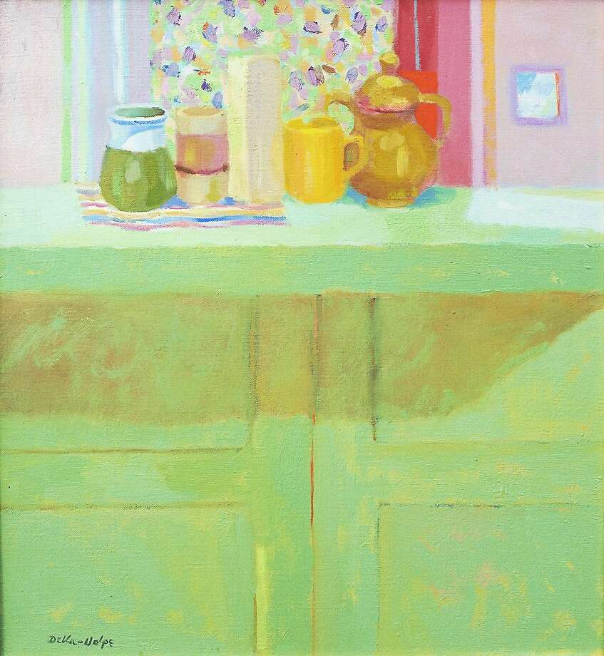 """Image courtesy of the artist """"Still Life on Green Cabinet"""" by Ralph Della-Volpe. Photo: Journal Register Co."""