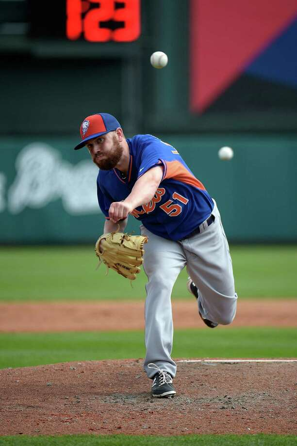 New York Mets pitcher Jack Leathersich is one of the few left-handers in camp. Photo: Phelan M. Ebenhack — The Associated Press  / FR121174 AP