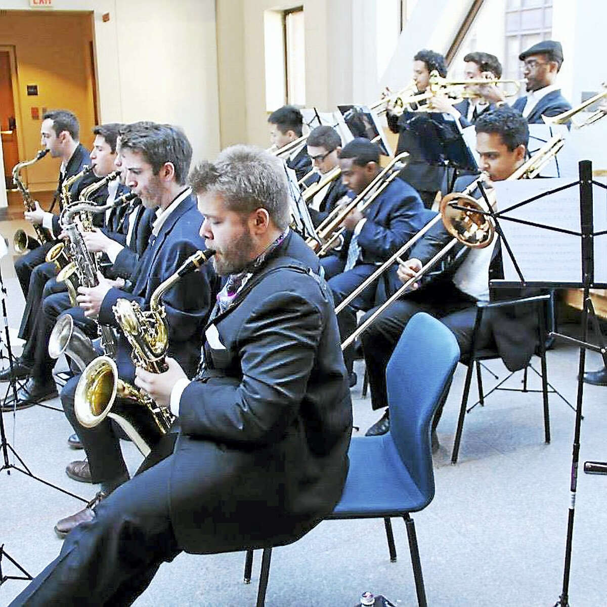 The Yale Jazz Collective in a student-led performance at City Hall in New Haven.
